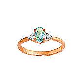 QP Jewellers Diamond & Aquamarine Allure Ring in 14K Rose Gold