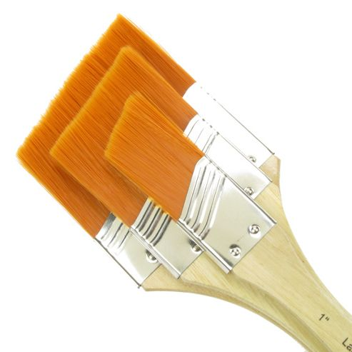 Royal Large Area Brush Set - Angular Gold Taklon Medium 3 Pack