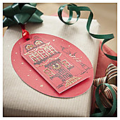 Tesco 3D Red House Christmas Tags, 3 Pack
