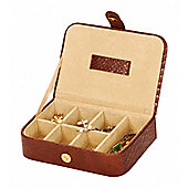 Tan Croc Skin Finish Cufflink Box