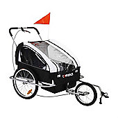 Confidence Folding Baby Stroller/Buggy/Pram-Use Whilst Jogging Or Attach To Bike White