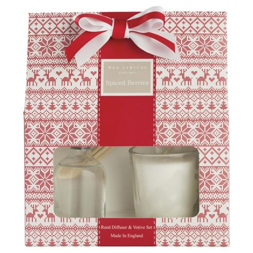 Wax Lyrical Spiced Berries Reed Diffuser & Candle Giftset