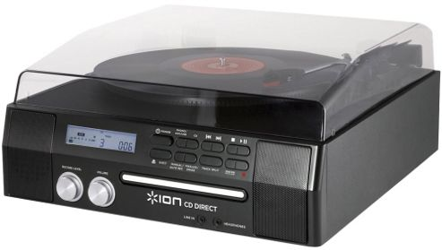 ION Audio CD Direct Conversion Turntable with CD Recorder and Speakers
