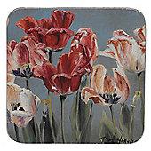 Thomas Frederick Crimson Tulip 10 cm Coaster (Pack of 4)