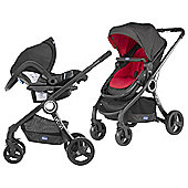 Chicco Urban Plus Travel System, Red Wave