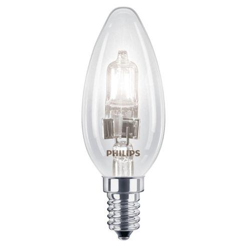 Philips EcoClassic Halogen B35 18 W E14 Small Edison Screw Warm White Light Bulb