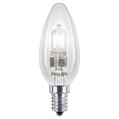 Philips EcoClassic Dimmable Halogen Candle Light Bulb (18W E14 B35)