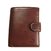 Tony Perotti Italian leather credit card notecase tri-fold wallet for men and for women. Brown