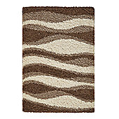 Think Rugs Vista Beige Shaggy Rug - 120 cm x 170 cm (3 ft 9 in x 5 ft 7 in)