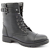 Ladies Emilio Luca X Military Road Black Ankle Boots