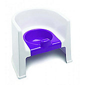 The Neat Nursery Training Potty Chair (White/Plum)