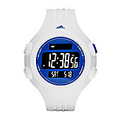 adidas Performance Questra Unisex Digital LCD Sports Watch White/Blue