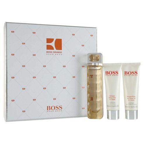Hugo Orange Eau De Toilette 50ml & Body Lotion 50ml & Shower Gel 50ml