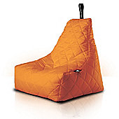 Luxury Quilted Bean Bag - Orange