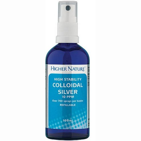 Higher Nature Colloidal Silver Solution 100ml Spray