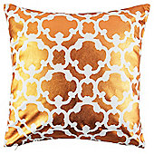 Metallic Lattice Cushion Copper