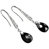 Black Cubic Zirconia Teardrop Earrings