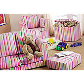 Just 4 Kidz Kids 45cm Toy Box - Sky Stripe