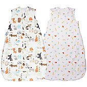 Grobag 2.5 Twin Pack - Jungle Friends & Alphapets (18-36 Months)