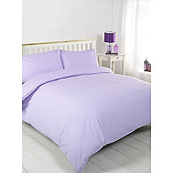 Oxford Stripe Purple Duvet Cover Set - Single
