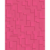 Superfresco Easy Checker Wallpaper - Hot Pink