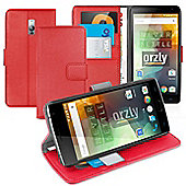 **Orzly** Multifunctional Wallet Stand Case for OnePlus Two - Red