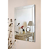 Large Modern Venetian All Glass Edge Big Wall Mirror 3Ft7 X 2Ft7 (110Cm X 78Cm)