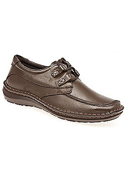 Arbitro Handmade Leather Shoe with Double Loop Lace Black Antique - 10 - Brown