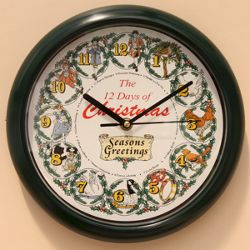 Homemate 12 Days of Christmas Clock