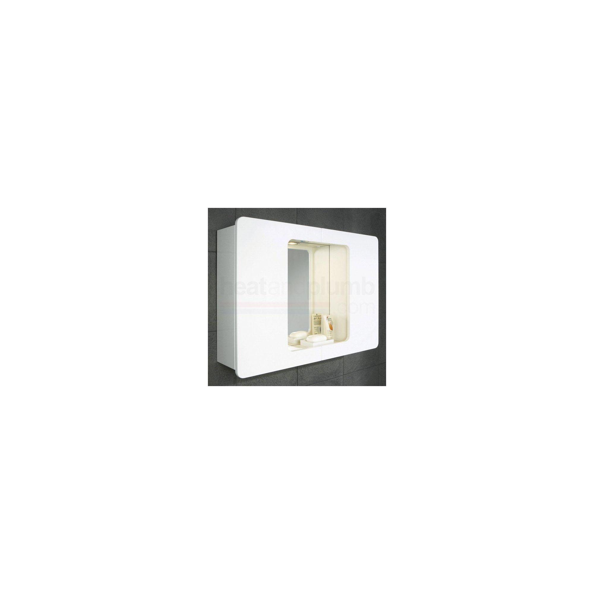 HiB Logan Illuminated Bathroom Cabinet 550mm High x 750mm Wide x 160mm Deep