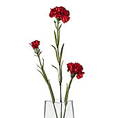 Artificial 70cm Single Stem Multi Headed Dark Red Carnation