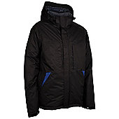 Squaw Extreme Mens Waterproof Warm Snowboarding Skiing Winter Ski Jacket Coat - Black