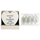 Vintage Heart word plaque