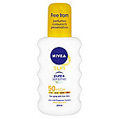 Nivea Sun Spray Pure & Sensitivespf50 200Ml