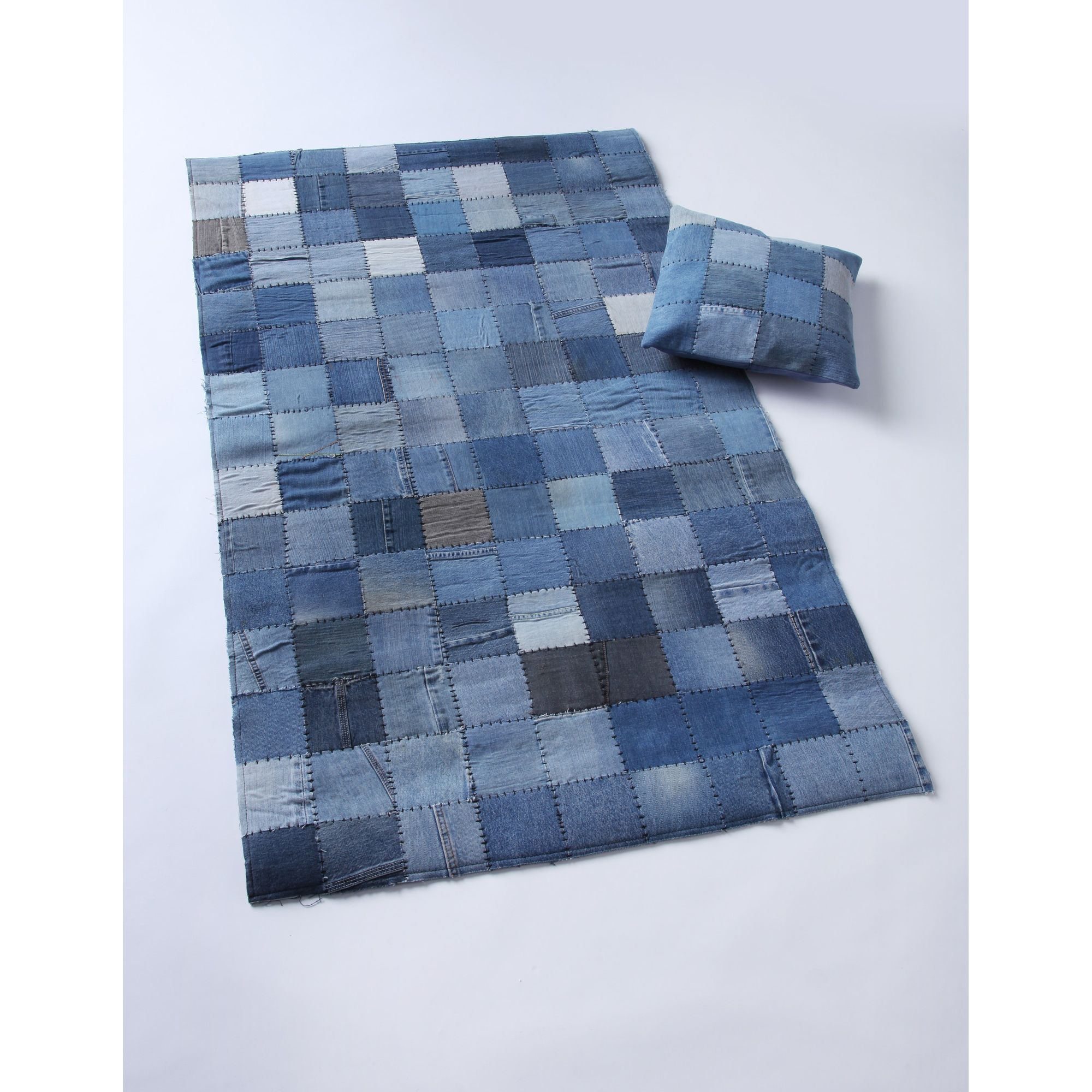 Wilkinson Furniture Cargo Rug in Distressed Blue - Small