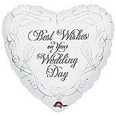 18' Wedding Doves Heart Foil (each)