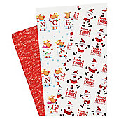 Tesco Flat Wrapping Paper, 15 Sheets