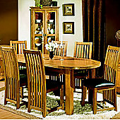 Kelburn Furniture Union 6 Chair Dining Room Set in Antique Solid Oak