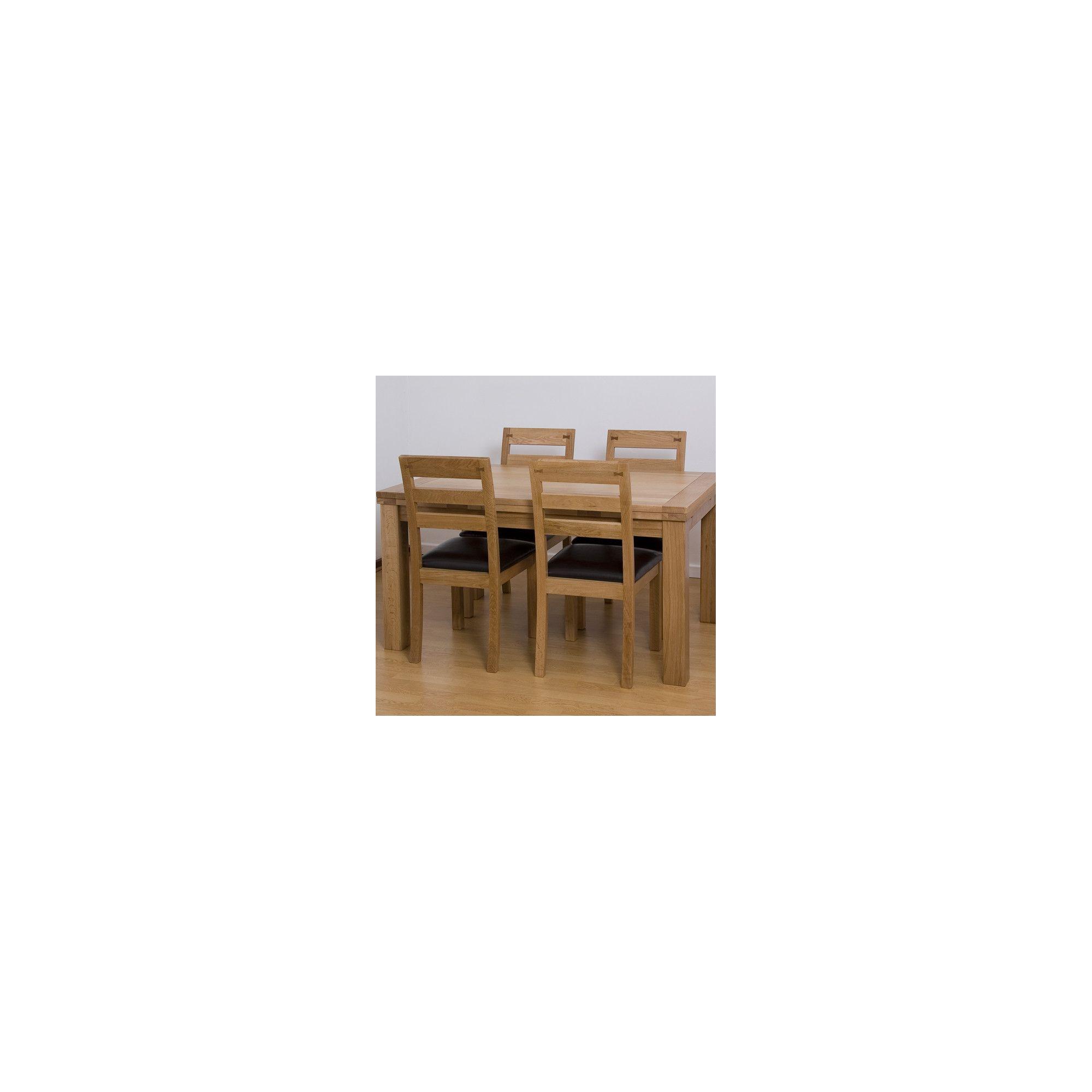 G&P Furniture 5 Piece Extending Oak Dining Set - 76.2cm H x 120cm - 180cm W x 80cm D at Tescos Direct