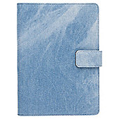 "Tesco Denim Blue Universal Canvas 7"" Folio Case"