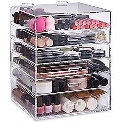 Beautify Large 6 Tier Clear Acrylic Cosmetic Makeup Drawers Organiser