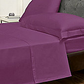 Julian Charles Percale Mulberry Luxury 180 Thread Count Flat Sheet - King Size