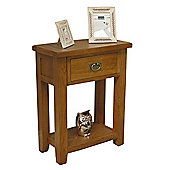 Tucan Rustic Oak 1 Drawer Console Table