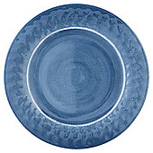 Tesco Blue Melamine Dinner Plate, Single