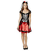 F&F Day Of The Dead Dress-Up Costume - Black & Red