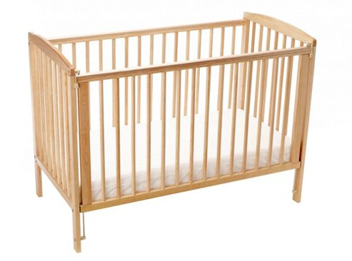 Emmay Cyprus Cot and Mattress - Beech