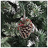 Tesco Pine Cone Hanging Decoration