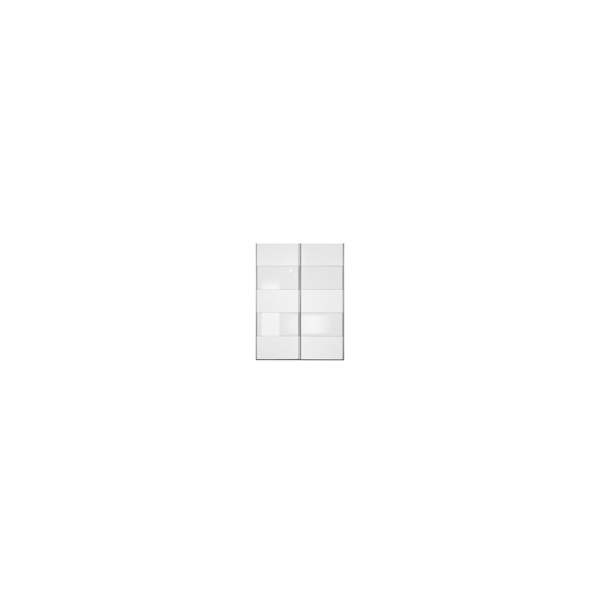 Arte-M Inline Sliding Door Wardrobe with Four Glass Panels - White / Black at Tescos Direct