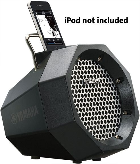 YAMAHA PDX11 PORTABLE SPEAKER SYSTEM WITH iPOD DOCK (BLACK)