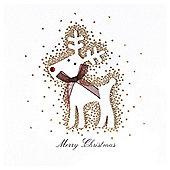Luxury Glitter Reindeer Cards 6pk